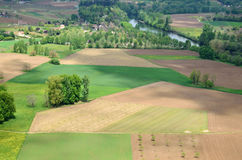 Fertile valley of the Dordogne river Stock Image