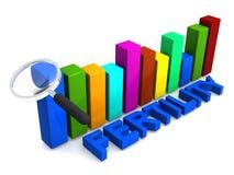Fertility graph. An illustration of a bar graph with the word Fertility stock illustration