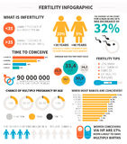 Fertility infographic. Made in vector with sample data. Vector file is easy to edit Stock Images