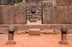 Fertility temple. Prehistoric Incas fertility temple in Chucuito, Peru stock photography