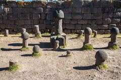 Fertility temple peruvian Andes at Puno Peru. Fertility temple in the peruvian Andes at Puno Peru royalty free stock photography