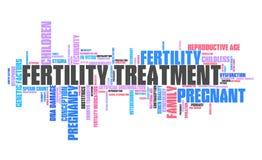 Fertility treatment tag cloud. Fertility treatment - infertility issues. Word cloud sign vector illustration