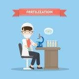 Fertilization in laboratory. Stock Image