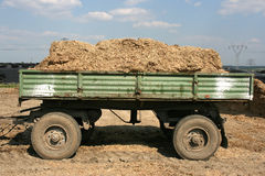 Fertilizer. Polish countryside in Upper Silesia - trailer full of natural fertilizer Royalty Free Stock Photos