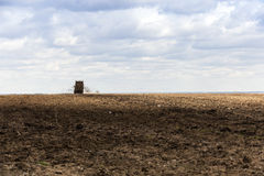 Fertilizer agricultural field Royalty Free Stock Photography