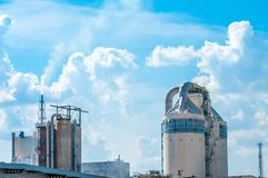 Fertilizer plant polluting the environment , releasing toxic substances Stock Images