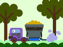 Fertilizer spreading Royalty Free Stock Photo