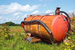 Fertilizer tank Royalty Free Stock Photo