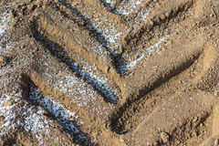 Fertilizers on the ground Royalty Free Stock Photo