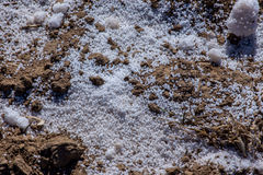 Fertilizers on the ground Royalty Free Stock Image