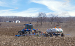 Fertilizing a Farm Field Stock Images