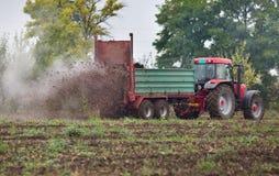 Fertilizing field stock images