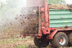 Fertilizing field Royalty Free Stock Images