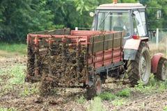 Fertilizing field Stock Image