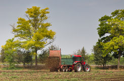 Fertilizing field Stock Photography