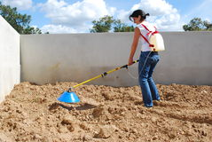 Fertilizing the Soil Stock Image