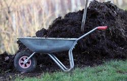 Fertilizzante domestico del concime per l'orto fotografia stock libera da diritti