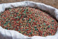 Fertilizzante nella borsa del fertilizzante Immagine Stock