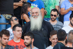 Fervent fans of PAOK football team Royalty Free Stock Photography