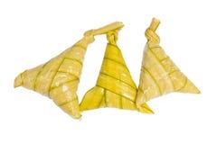Fervura do arroz pegajoso ou arroz fervido feita para comemorar o mub da estação Imagens de Stock