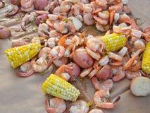 Fervura do camarão Imagem de Stock
