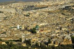 fes摩洛哥全景 库存照片
