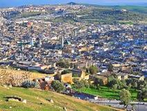 fes摩洛哥全景 库存图片