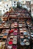 fes皮革厂 库存照片