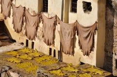 fes皮革摩洛哥晒黑 免版税图库摄影