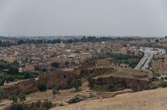 Fes菲斯麦地那老镇的全景-一古老I 库存照片