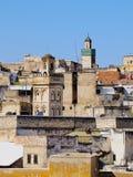 Fes都市风景,摩洛哥 免版税库存图片