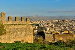 Fes麦地那都市风景 免版税库存图片
