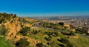 Fes麦地那都市风景 免版税库存照片