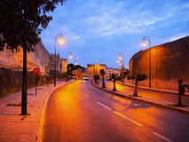 Fes,摩洛哥墙壁  免版税库存图片
