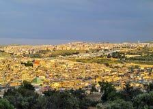 Fes,摩洛哥都市风景  库存照片