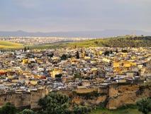 Fes,摩洛哥都市风景  免版税库存照片