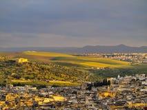 Fes,摩洛哥都市风景  库存图片