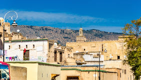Fes EL Μπαλί, το παλαιότερο περιτοιχισμένο μέρος Fes στο Μαρόκο Στοκ εικόνες με δικαίωμα ελεύθερης χρήσης