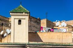 Fes el巴厘岛, Fes的最旧的被围住的部分在摩洛哥 免版税库存图片