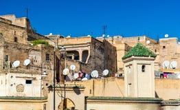 Fes el巴厘岛, Fes的最旧的被围住的部分在摩洛哥 库存图片