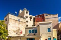 Fes el巴厘岛, Fes的最旧的被围住的部分在摩洛哥 免版税库存照片