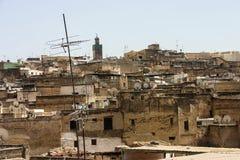Fes (Fez) ist Marokkos älteste Kaiserstadt Stockbild