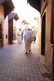 FES, MAROCCO - October 15 2013: People in the streets on Eid al- Stock Photos