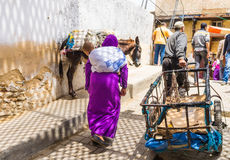 Fes, Marocco old Medina streets Stock Photography
