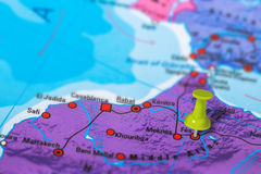 Fes Maroko mapa Obraz Royalty Free