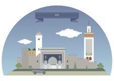 Fes marruecos stock de ilustración