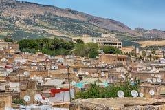 Fes medina and surrounding landscape. Stock Photography