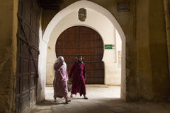 FES, MOROCCO, April 15: people walking on street of Fes, Morocco Stock Image