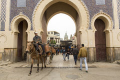 FES, MOROCCO, April 15: people walking on street of Fes, Morocco Stock Photo