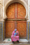 FES, MOROCCO, April 19: people walking on street of Fes, Morocco Stock Photography